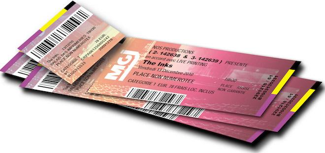 Цифровая печать билетов