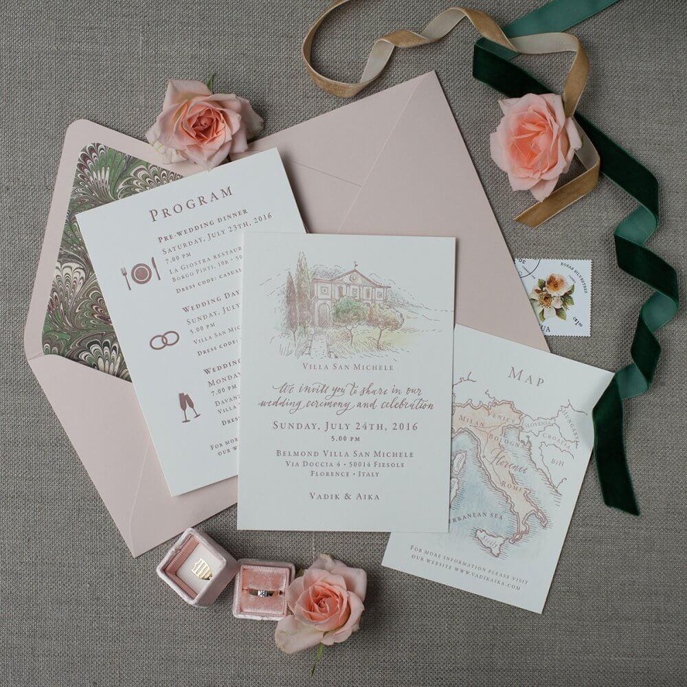 Оформление свадебных приглашений